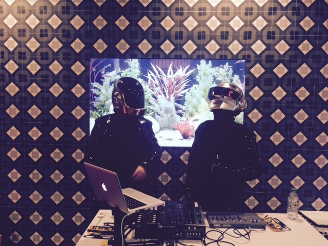 robot Djs for hire Daft Punk Tribute Live in Gibson Hotel