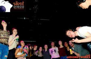 silent disco students Party Silent headphones